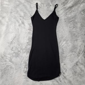 Forever 21 Black Ribbed Midi Dress Small